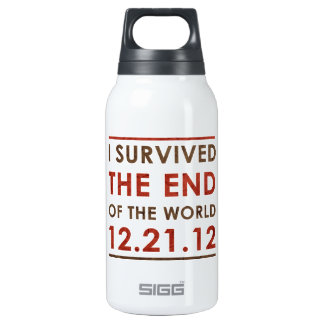 I Survived the end of the World 12.21.12 Insulated Water Bottle