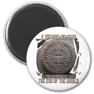 I SURVIVED THE END OF THE WORLD 2012 2 INCH ROUND MAGNET
