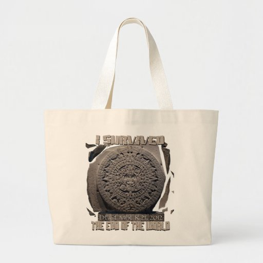 I SURVIVED THE END OF THE WORLD 2012 CANVAS BAGS
