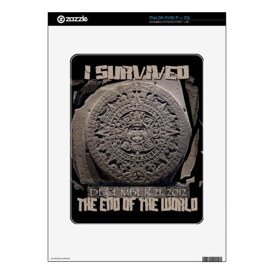 I SURVIVED THE END OF THE WORLD 2012 DECAL FOR THE iPad