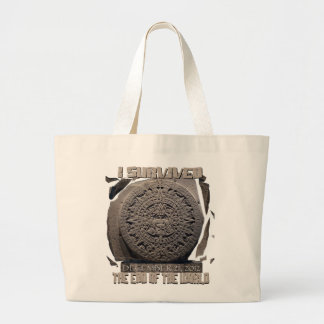I SURVIVED THE END OF THE WORLD 2012 LARGE TOTE BAG