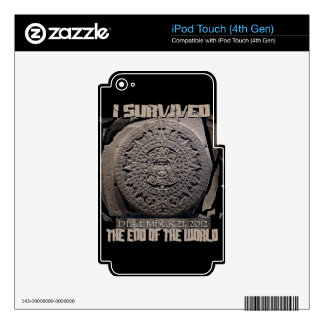 I SURVIVED THE END OF THE WORLD 2012 SKINS FOR iPod TOUCH 4G