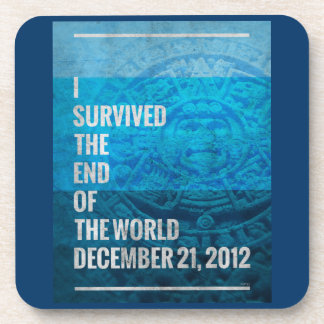 I Survived The End of The World Beverage Coaster
