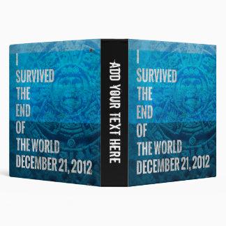 I Survived The End of The World Vinyl Binder