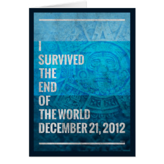 I Survived The End of The World Card