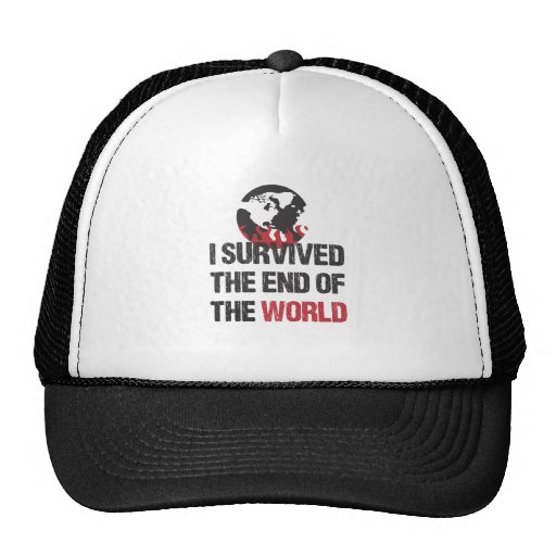 I Survived The End Of The World Mesh Hat