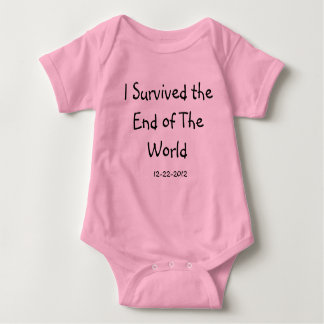 I Survived The End of The World Pink Baby Creeper
