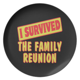 I SURVIVED THE FAMILY REUNION PLATE