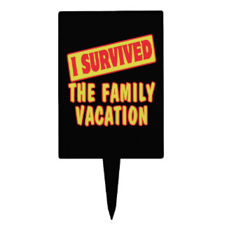 I SURVIVED THE FAMILY VACATION CAKE PICKS