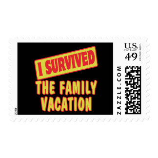 I SURVIVED THE FAMILY VACATION POSTAGE STAMP