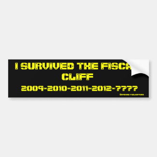 I survived the fiscal cliff bumper stickers