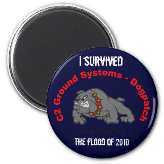 I survived the flood of 2010 2 inch round magnet
