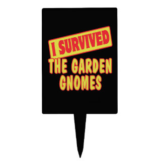 I SURVIVED THE GARDEN GNOMES CAKE TOPPERS