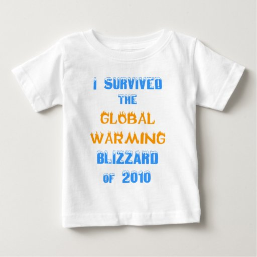 I Survived the Global Warming Blizzard of 2010 Shirt