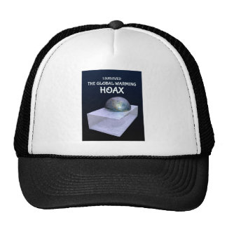 I Survived The Global Warming Hoax Hats