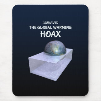 I Survived The Global Warming Hoax Mouse Pad