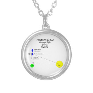 I survived the Great American Solar Eclipse 2017 Silver Plated Necklace