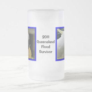 I Survived the Great Queensland Floods of 2011 Frosted Glass Beer Mug