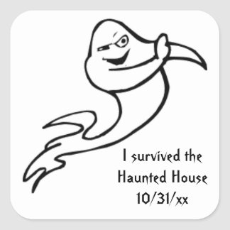 I survived the Haunted House Ghost Sticker