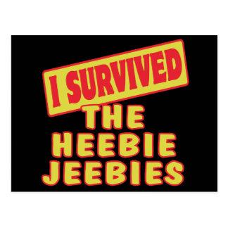 I SURVIVED THE HEEBIE JEEBIES POSTCARD