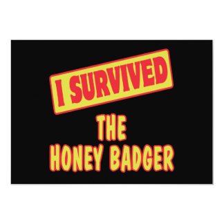 I SURVIVED THE HONEY BADGER PERSONALIZED ANNOUNCEMENT