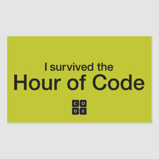 I Survived the Hour of Code Rectangular Sticker