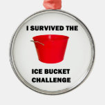 I Survived The Ice Bucket Challenge Christmas Ornament