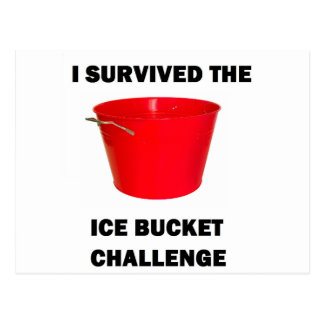 I Survived The Ice Bucket Challenge Postcard