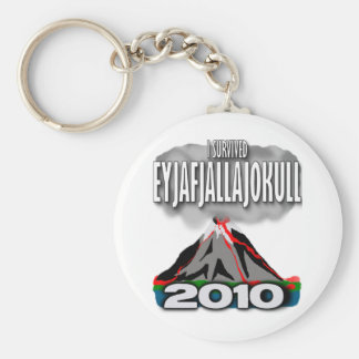 I Survived The Iceland Volcano Basic Round Button Keychain