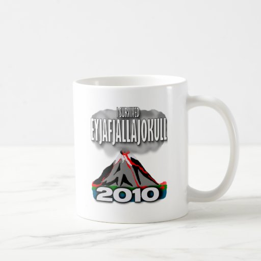 I Survived The Iceland Volcano Coffee Mugs