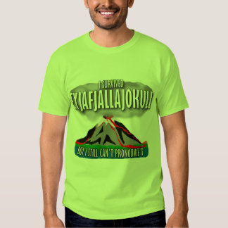 I Survived The Iceland Volcano T Shirt