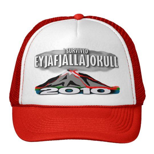 I Survived The Iceland Volcano Trucker Hat