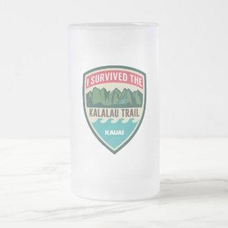"""I Survived the Kalalau Trail"" Frosted Mug"