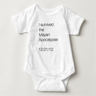 I survived the Mayan Apocalypse 12/21/12 Baby Bodysuit