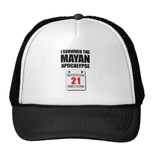 I Survived The Mayan Apocalypse 2012 (calendar) Trucker Hats