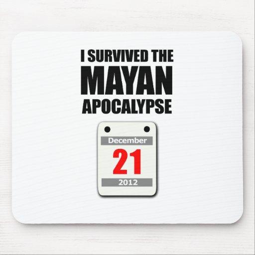 I Survived The Mayan Apocalypse 2012 (calendar) Mouse Mat