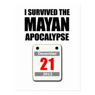 I Survived The Mayan Apocalypse 2012 (calendar) Postcard
