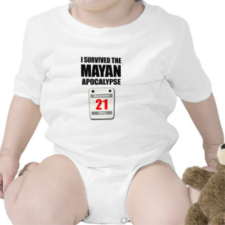I Survived The Mayan Apocalypse 2012 (calendar) Bodysuits