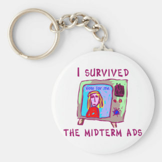 I survived the midterms basic round button keychain
