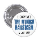 I Survived The Munich Hailstorm Pinback Buttons