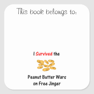 I Survived the Peanut Butter Wars at Free Jinger Stickers