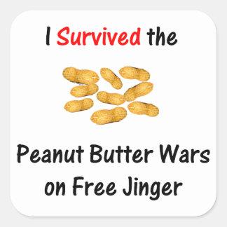 I Survived the Peanut Butter Wars at Free Jinger Sticker