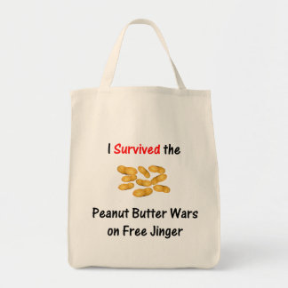 I Survived the Peanut Butter Wars at Free Jinger Tote Bag