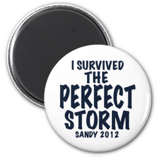 I Survived the Perfect Storm, Sandy 2012, hurrican 2 Inch Round Magnet
