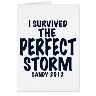I Survived the Perfect Storm, Sandy 2012, hurrican Card