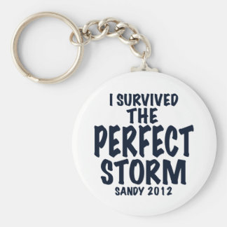 I Survived the Perfect Storm, Sandy 2012, hurrican Basic Round Button Keychain