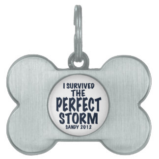 I Survived the Perfect Storm, Sandy 2012, hurrican Pet ID Tag