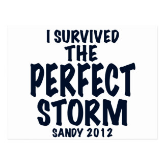 I Survived the Perfect Storm, Sandy 2012, hurrican Postcard