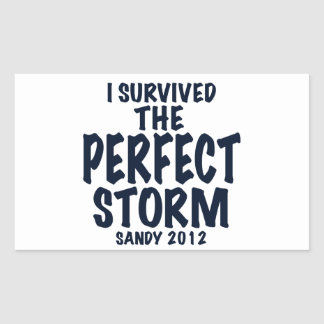 I Survived the Perfect Storm, Sandy 2012, hurrican Rectangular Sticker
