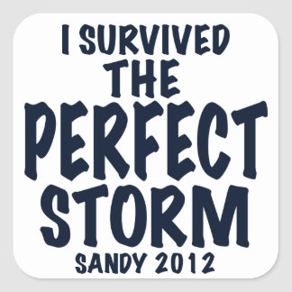 I Survived the Perfect Storm, Sandy 2012, hurrican Square Sticker